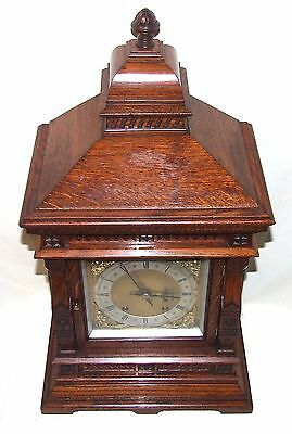 Antique Oak TING TANG Bracket Mantel Clock  Winterhalder & Hoffmeier W & H (a11) 9
