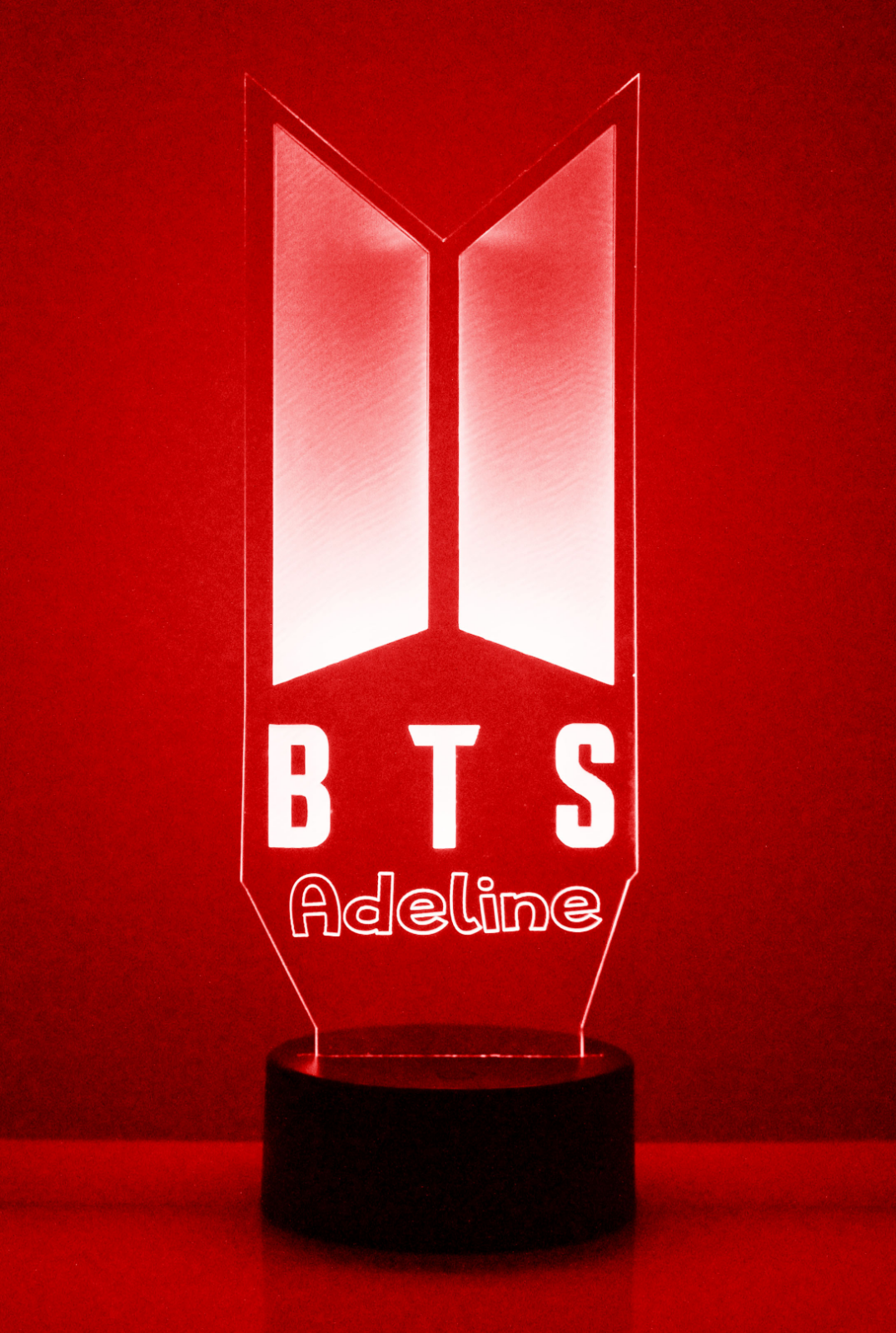 KPOP BTS Personalized Light Up Night Light Lamp With Remote Bangtan Boys V Gift 5