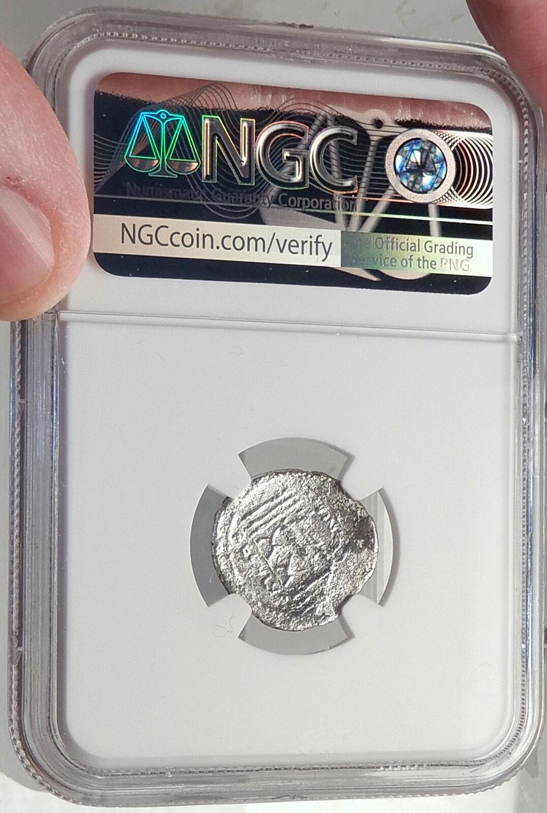 Roman Republic 42BC Praetor Livineius Regulus Praefect Silver Coin NGC i68785 4