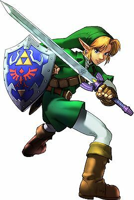 "Legend of Zelda Link Hylian Shield 2"" Metal Badge Pin US Seller"