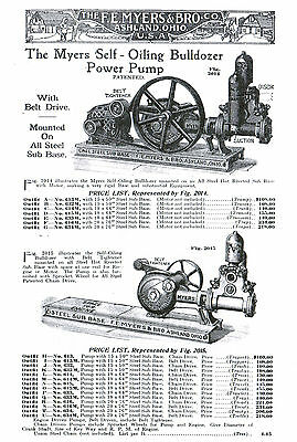 F E Myers Water Well Pumps Hit Miss Engine Powered bulldozer motor tractor gas 3