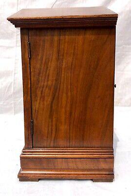 ~ Antique Architectural LENZKIRCH Walnut TING TANG Bracket Mantel Clock WORKING 8