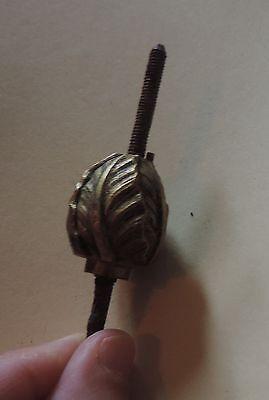 Antique 19th c. French Empire Gilt Bronze Finial Knob Empire Clock Flower Bud 2