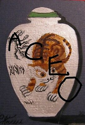 "C394        Original Acrylic Painting By Ljh    ""Purple Haze''      Still Life 7"
