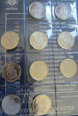 Complete Set of Canada Half Dollars Coins (1968-2013) In UNI-Safe Blue Book 7