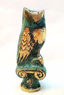 Ancient Greek Bronze Museum Replica Of Owl Symbol Of Athena Goddess Of Wisdom 4
