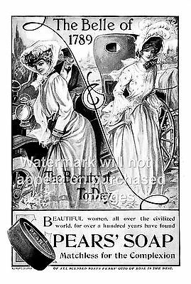 Vintage  soap advert  poster reproduction. Ivy Soap