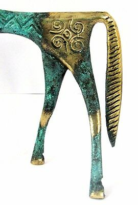 Ancient Greek Bronze Museum Statue Replica Geometric Era Horse Collectable 121 7