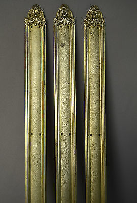Antique French Set of 3 Door Knob BackPlate Finger Plate - Castle Chateau Manor 2