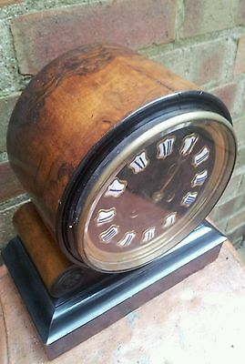 Antique 1880's French Burr Walnut Barrel Style Count Wheel Clock 3