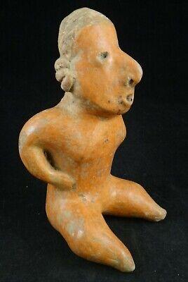 Pre-Columbian Nayarit-Chinesco Pottery Figure,red slip glaze.c.200 BC- 200 ACE 2