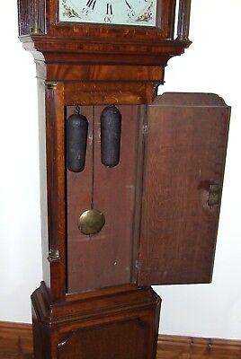 ~ Antique Oak & Mahogany Grandfather Longcase Clock BENJAMIN PEERS CHESTER 6