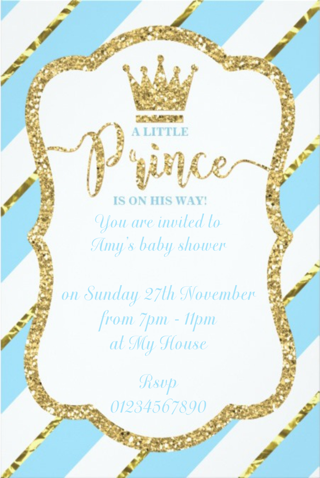 10 BEAUTIFUL Personalised Baby Shower Invitations Invites Boys or ...