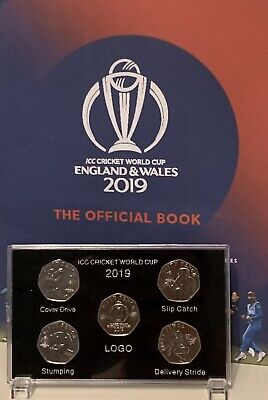 2019 Isle of Man Official ICC Cricket  World Cup 50p coin Display Case (NO COIN) 3