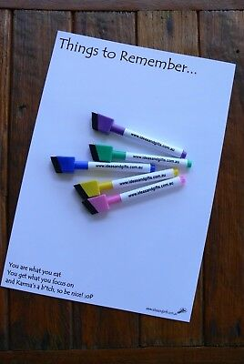 A4 Whiteboard +5pens Fridge Magnet Reminder Family Office Weekly Monthly Planner