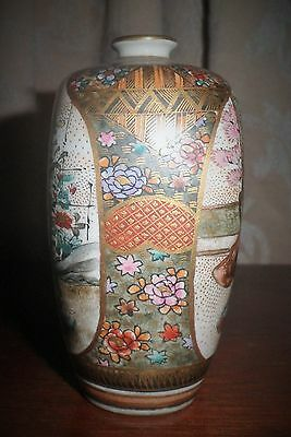 RARE STUNNING ANTIQUE JAPANESE SATSUMA MEJI PERIOD c. 1800's VASE 8