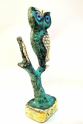 Ancient Greek Bronze Museum Replica Of Owl Symbol Of Athena Goddess Of Wisdom 5