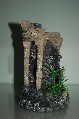 Stunning Aquarium Detailed Roman Ruin Fountain Circle Decoration 15 x 13 x 21cms 3