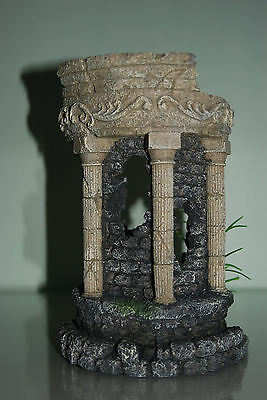 Stunning Aquarium Detailed Roman Ruin Fountain Circle Decoration 15 x 13 x 21cms 6
