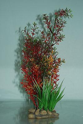 Aquarium Plants Pebble base 10cm Base and 30 cms High Redish in Colour 2