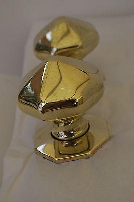 Vintage Solid Brass Door Pulls  Large Impressive Large Pics Free P&p 5