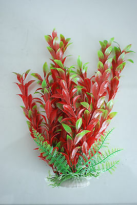 Aquarium Plants x 2 Approx 25cms High Red & Green Suitable for all Aquariums 5