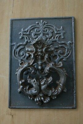 RARE LARGE Antique Victorian Cast Iron Door Knocker Original Patina Hardware 4