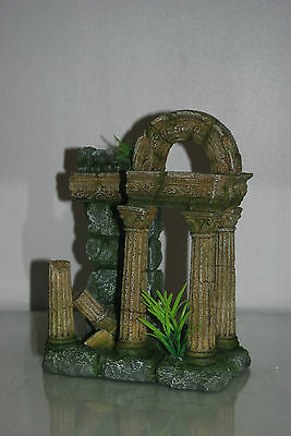 Aquarium Large Old Roman Column Arch Ruin Greek Decoration 18 x 11 x 24 cms 4