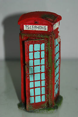 Aquarium Large Old London Telephone Box 9x7.5x17 cms Suitable For All Aquariums 4 • EUR 10,93