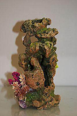 Aquarium Coral On Lava Rock Suitable For All Aquariums 13.5 x 14.5 x 26 cms 4