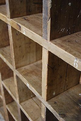 Pigeon holes BOOKCASE 1 col + 3 col industrial rustic salvage wood gplanera 8