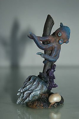 Aquarium Octopus On Broken Reef Rock 6 x 4 x 11 cms Suitable For All Aquariums 5