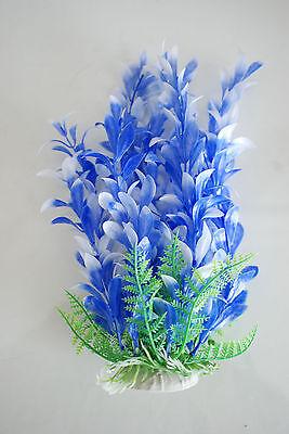 Aquarium Plants x 2 Approx 25cms High Orange & Blue Suitable for all Aquariums 6