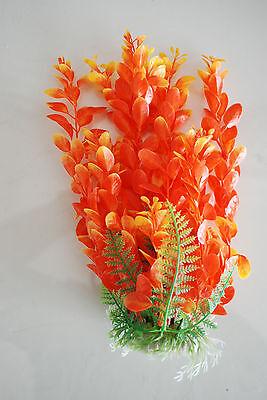 Aquarium Plants x 2 Approx 25cms High Orange & Blue Suitable for all Aquariums 3