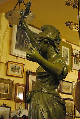 Original Louis Gasne Paris Marianne France Gußeisen 19.Jh. Skulptur Höhe 188 cm 11