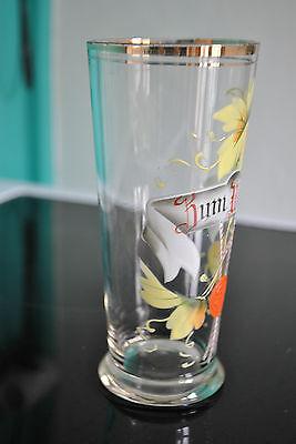 Superbe ancien verre émaillé - Old glass - GLAS EMAILLIERT - Rum Wohle