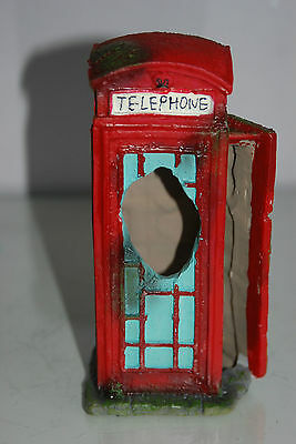 Aquarium Large Old London Telephone Box 9x7.5x17 cms Suitable For All Aquariums 6