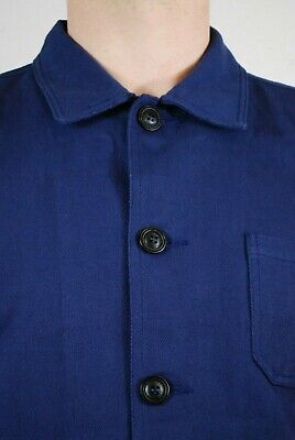 60s Style French Navy Blue Cotton Twill Canvas Chore Worker Jacket - All Sizes 6
