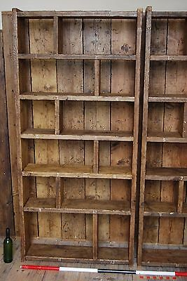 Pigeon holes ZIG ZAG industrial rustic bookcase wood factory salvage gplanera 2