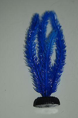 Aquarium Plant Hornwort Blue Plastic Plant 20cms High Suitable for all Tanks 2