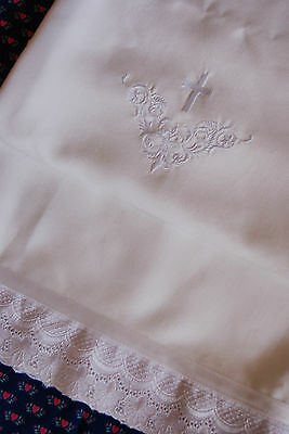 BAUMWOLLE Tauftuch zu Taufkleid Taufhandtuch Handtuch Taufe