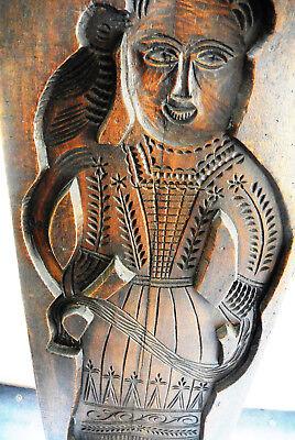 Printenmodel 108 hoch / 38 cm breit Holz Motiv Frau mit Vogel