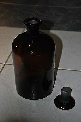 Alte Apothekerflasche Apotheker Flasche Stopfen Braunglas Old Pharmacy 2 Liter 7