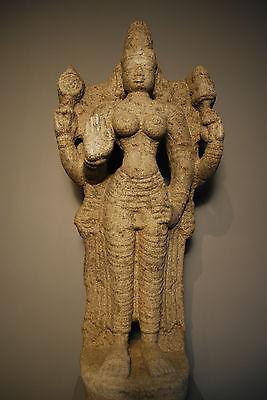 Granite Figure Of Parvati South India, Tamilnadu, Vijayanagar Period, 14Th/15Th