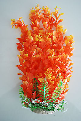 Aquarium Plants Approx 33cms High Orange & Yellow Suitable for all Aquariums 3