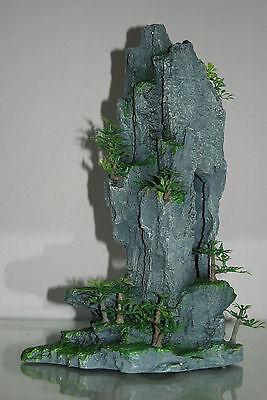 Aquarium Detailed Rocky Mountain Peak With Plants 22 x 13 x 34 cms 4