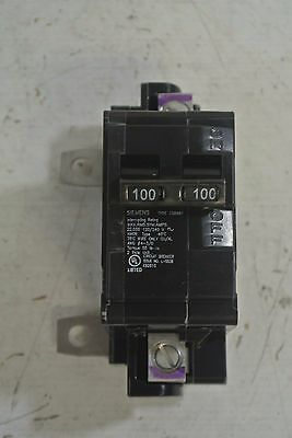 New Siemens 2 pole 100 Amp 120//240 Volt 22 KA Main Breaker Cat EQ8681