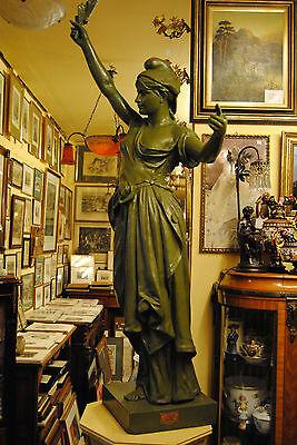 Original Louis Gasne Paris Marianne France Gußeisen 19.Jh. Skulptur Höhe 188 cm 9