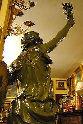 Original Louis Gasne Paris Marianne France Gußeisen 19.Jh. Skulptur Höhe 188 cm 12