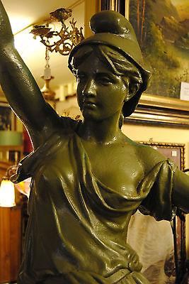 Original Louis Gasne Paris Marianne France Gußeisen 19.Jh. Skulptur Höhe 188 cm 4